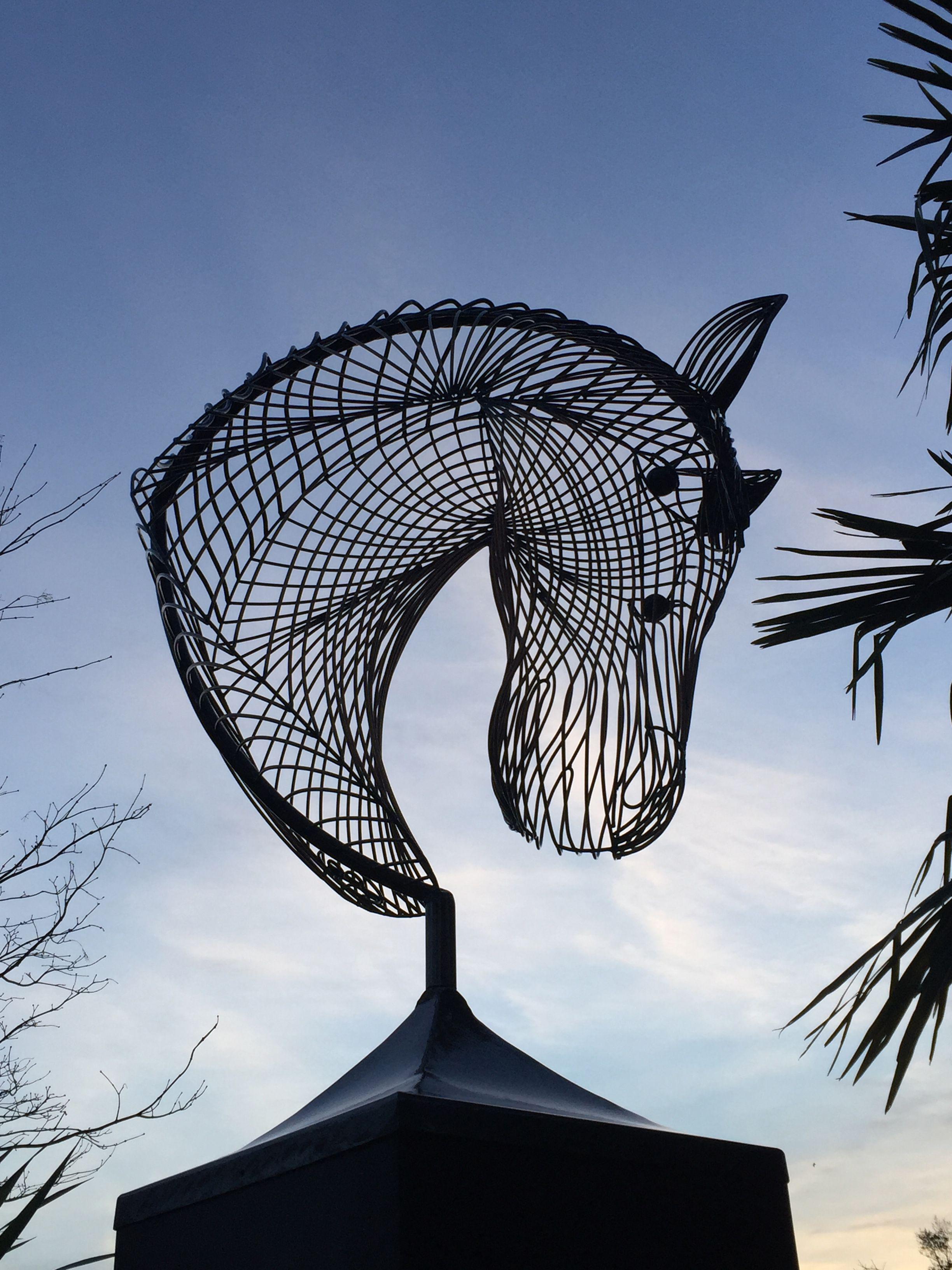 Wire Sculptures Horse Head Wire Sculpture