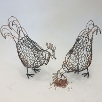 Chicken wire art